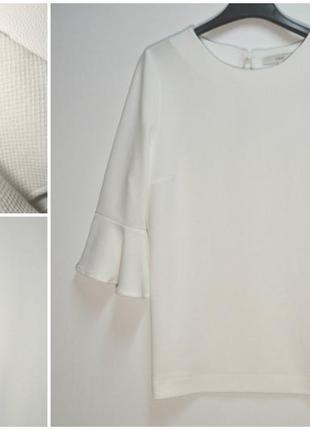 Стильная белая блуза с расклешенным рукавом next