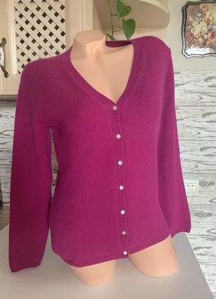 Нежнейший кашемировый свитер цвет тёмная фуксия