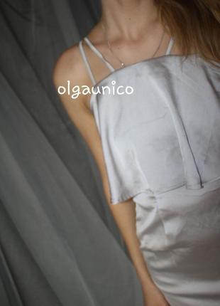 Роскошное сатиновое макси платье3 фото