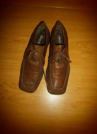 Фирменные ботинки/нат.кожа/24 см