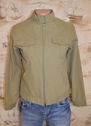 Куртка в стиле милитари короткая куртка бомбер ветровка размер м