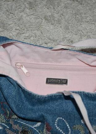 Джинсовая сумочка, вышивка