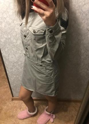 Комбинизон юбка-шорты милитари