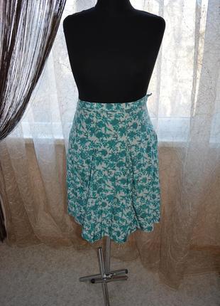 Летняя юбка на кокетке, цветочный принт, шелк, хлопок, jackpot, тренд 2019