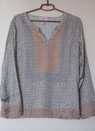 Атласная блуза с длинными рукавами rick cardona