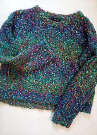 Классный укороченный свитер topshop ангора,  размер s