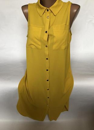 Стильная удлинённая рубашка - платье