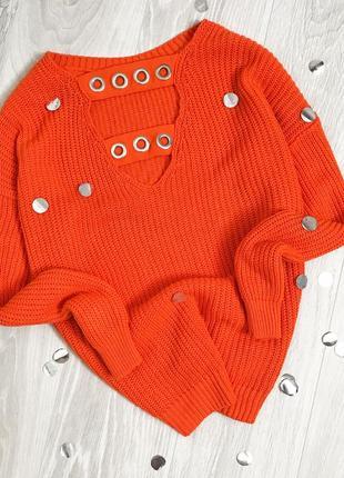 Яркий свитер с люрексами на спинке primark