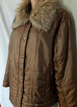 Распродажа! утепленная куртка с меховым воротником   №1sk