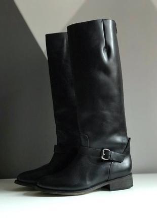 Кожаные сапоги, ботинки andre, как zara, massimo dutti, осенние сапожки