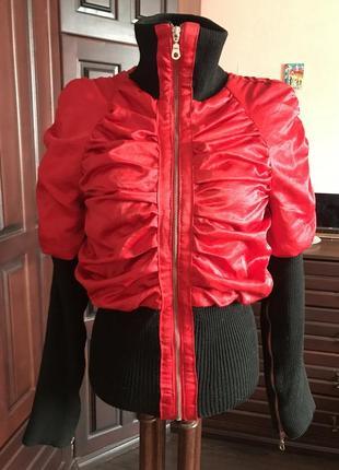 Красная атласная куртка rosso di sera