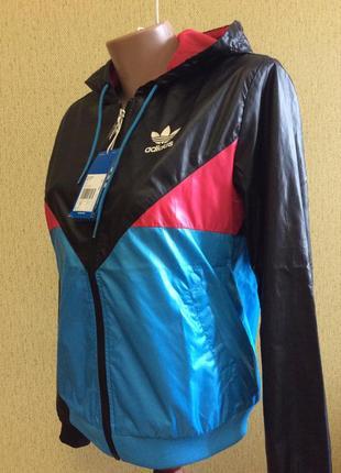 Новая куртка ветровка adidas original оригинал размер m 38