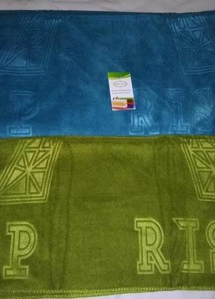Комплект набор полотенец велюр-микрофибра  2 шт премиум качество