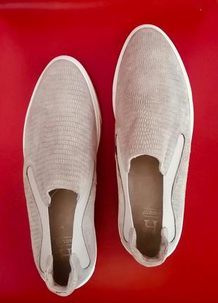Туфли лоферы (натуральная кожа и замша), размер 38