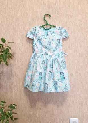 Красивое , нежное платье в кукольный принт от disney