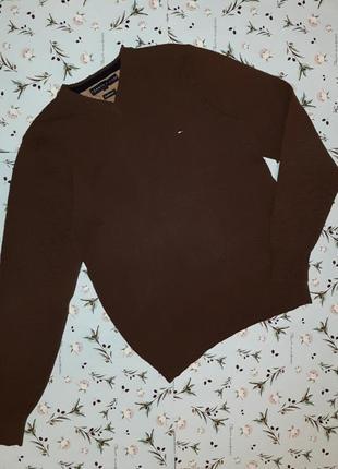 Фирменный теплый свитер tommy hilfiger оригинал из 100% шерсти, размер 44 - 46