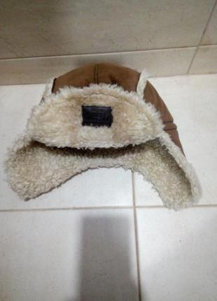 Меховая шапка для мальчика 4-6 лет