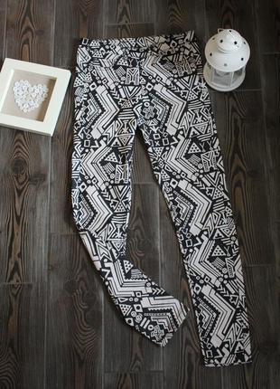 Укороченные деним штаны джинсы на молнии сзади с принтом в стиле бохо этно