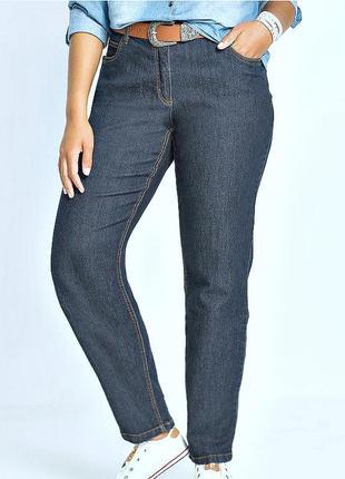 Темно-синие джинсы слимы, 70% хлопка