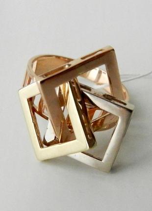 Кольцо золото 585 проба. кубы. размеры 15.5-20.5