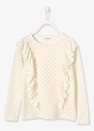 Реглан детский vertbaudet на рост 156 см футболка для девочек