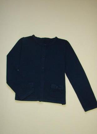 Синий школьный кардиган кофта свитер george 7-9 лет