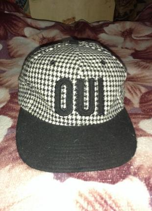 Брендовая кепка бейсболка в клетку oui