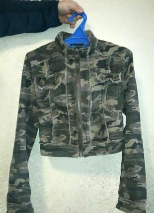 Камуфляжная куртка ветровка в стиле милитари