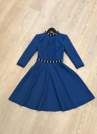 Платье синее нарядное