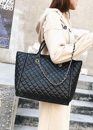 Женская сумка стежка на цепочке