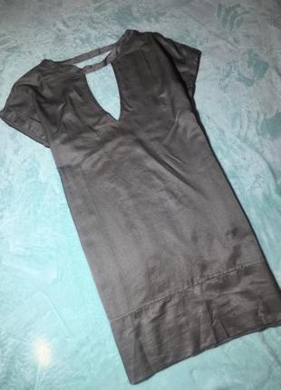 Шёлк+хлопок удлинённая блуза от итальянского дизайнера daniele fiesoli