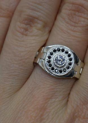 Серебряное #кольцо, #печатка, #перстень, #rolex, #подвижная, #срібна_печатка, 19,5р-р