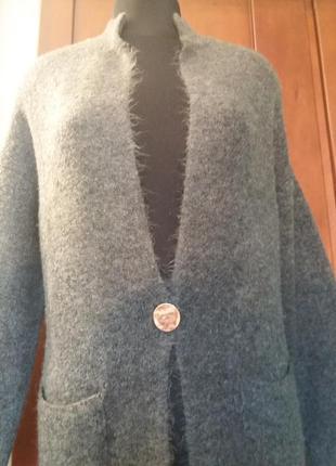 Теплый кардиган мягенький amisu размеры
