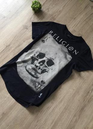 Оригинальная футболка с крутым принтом religion!