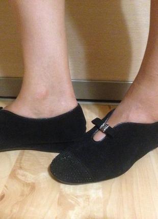 Черные ботинки демисезонные