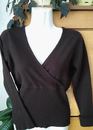 Кашемировый свитер шоколадного цвета