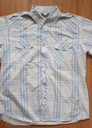 Сорочка з короткими рукавами на кнопках