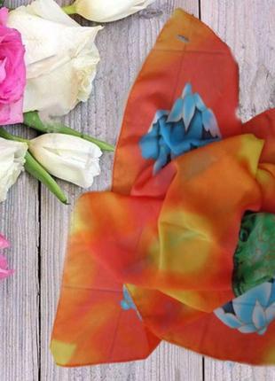 🌷🌷красивый летний платок цветной оранж 🌷🌷🌷