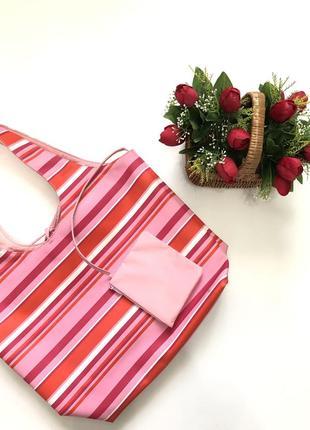 Большая летняя сумка шопер/ пляжная сумка непромокашка