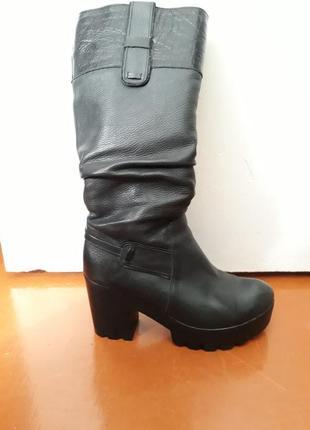 Зимові,шкіряні чобти