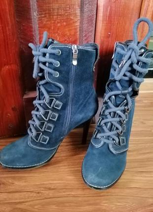 Ботинки замшевые vitto rossi