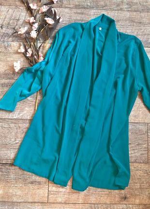 Зеленый кардиган/накидка/l-xl/ткань струящаяся