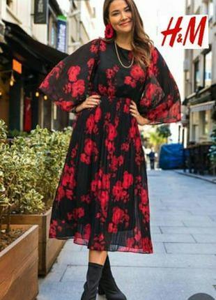 Шифоновое платье, бренд h&m.