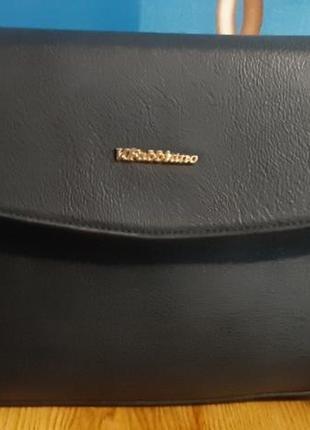 Черная классическая сумка  velina fabbiano