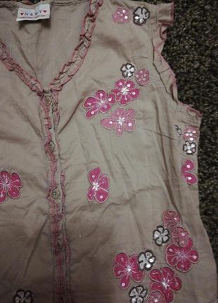 Блуза на 9-10 років в ідеалі від некст2 фото