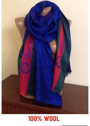 Брендовый шарф-палантин от  gucci