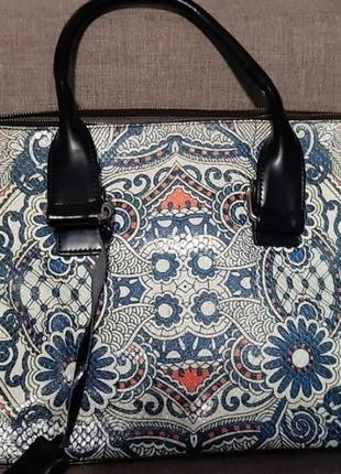Большая вместительная сумка известного бренда velina fabbiano, кожа+кожзам