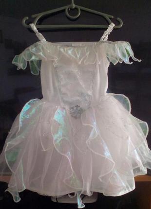 Карнавальное платье снежинка, ангелочек на 3-4 годика