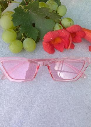 Новые крутые очки ретро лисички, розовые