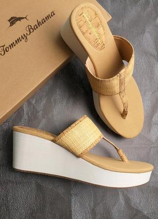 Tommy bahama оригинал бежевые босоножки на платформе бренд из сша